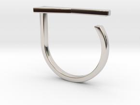 Adjustable ring. Basic model 15. in Rhodium Plated Brass