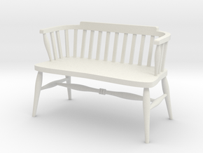 1:24 Windsor Loveseat (NOT FULL SIZE) in White Natural Versatile Plastic