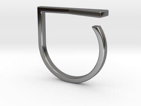 Adjustable ring. Basic model 16. in Fine Detail Polished Silver