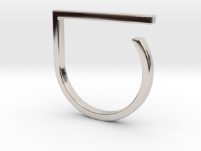 Adjustable ring. Basic model 0. in Platinum