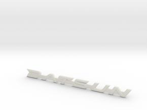 Datsun 510 Fender & Trunk Emblem in White Natural Versatile Plastic
