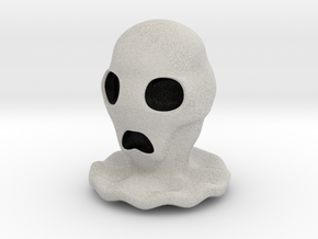 Halloween Character Hollowed Figurine: CreepyGhost in Full Color Sandstone