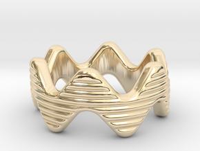 Zott Ring 21 - Italian Size 21 in 14k Gold Plated Brass