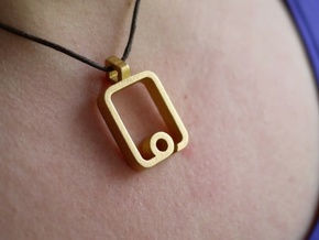 myPad Pendant in Matte Gold Steel