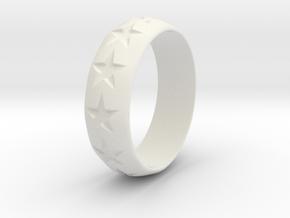 Eugen - Ring - US 9 - 19 mm inside diameter in White Strong & Flexible