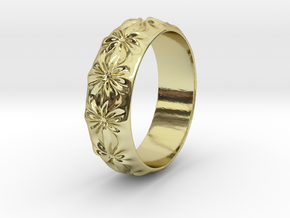 Clementine - Ring - US 9 - 19 mm inside diameter in 18k Gold Plated Brass