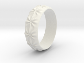 Clementine - Ring - US 9 - 19 mm inside diameter in White Natural Versatile Plastic