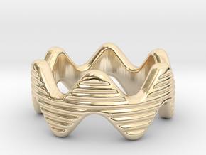 Zott Ring 29 - Italian Size 29 in 14k Gold Plated Brass