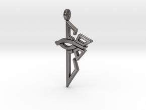 Ingress Enlightened Left Earring in Polished Nickel Steel