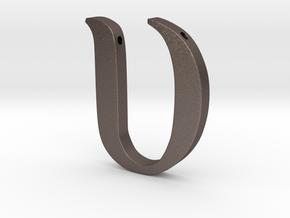 Upsilon in Polished Bronzed Silver Steel