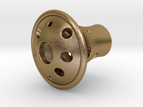 Knob 010215 in Polished Gold Steel