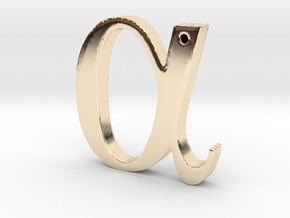 Alpha in 14K Yellow Gold