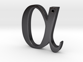 Alpha in Polished and Bronzed Black Steel