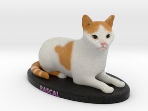 Custom Cat Figurine - Rascal in Full Color Sandstone