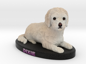 Custom Dog Figurine - Dixie in Full Color Sandstone
