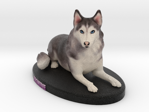Custom Dog Figurine - Jasmine in Full Color Sandstone