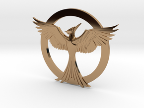 Mockingjay Pendant in Polished Brass