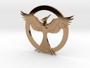 Mockingjay Pendant in Polished Brass