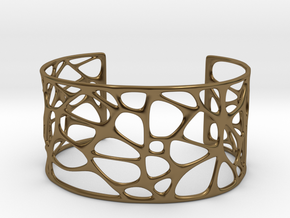 Bracelet abstract #4 in Polished Bronze