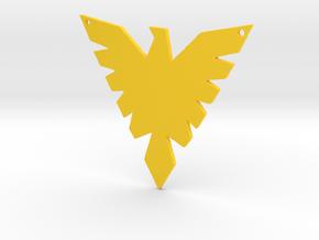 The Phoenix in Yellow Processed Versatile Plastic