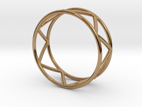 Zig Zag Thumb Ring in Polished Brass