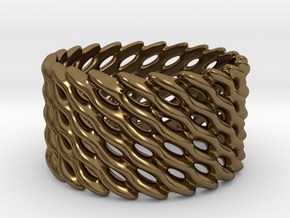 Lattice Twist No.1 in Polished Bronze