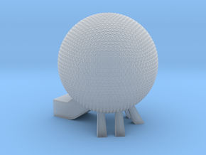 EPCOT Spaceship Earth Model in Smooth Fine Detail Plastic