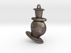Halloween Hollowed Accessory: Gentleman Ghosty in Polished Bronzed Silver Steel