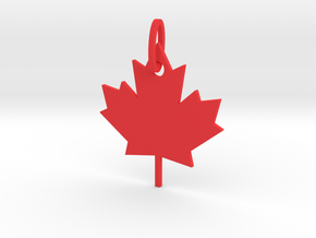 Maple Leaf in Red Strong & Flexible Polished