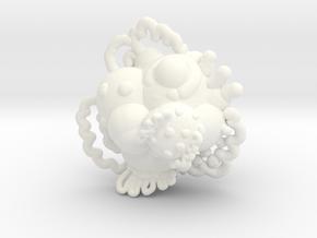 Planet pendant in White Processed Versatile Plastic