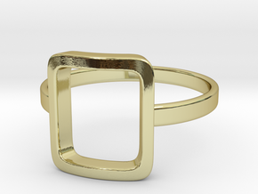 Back to basic collection - size 6 US in 18k Gold Plated Brass