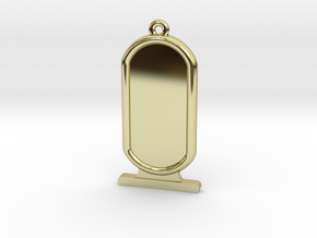 Customizable Ancient Egyptian Cartrouche in 18k Gold Plated Brass