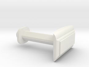 Customizable Cufflink  in White Natural Versatile Plastic