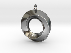 Mobius Pendant in Polished Silver
