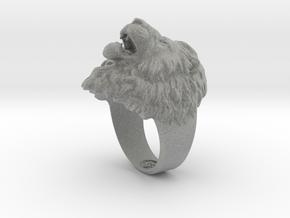 Aggressive Lion Ring in Metallic Plastic: 11.5 / 65.25
