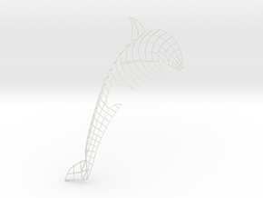 Orca in Wireframe in White Strong & Flexible