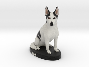 Custom Dog Figurine - Max in Full Color Sandstone