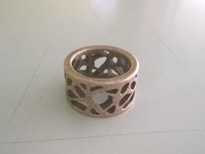 breathing ring in Polished Bronzed Silver Steel: 5.5 / 50.25