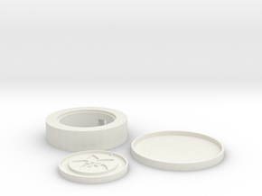 Inductive Charger Base in White Natural Versatile Plastic