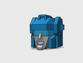 Blocky Glider Head G1/Dreamwave Version in Smooth Fine Detail Plastic