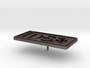 IDSA 50 Pin Design v2_2015 07 21 in Polished Bronzed Silver Steel