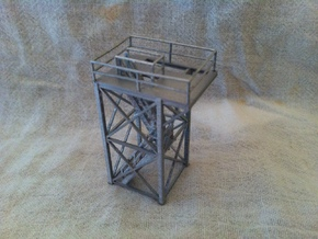'HO Scale' - 10'x10'x20' Tower Top With Stairway in Smooth Fine Detail Plastic