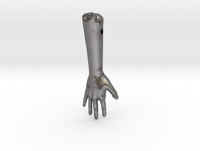 severed Arm in Polished Nickel Steel
