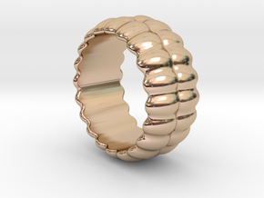 Mirror Ring 18 - Italian Size 18 in 14k Rose Gold Plated Brass