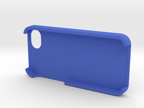 Customizable Iphone Case in Blue Processed Versatile Plastic