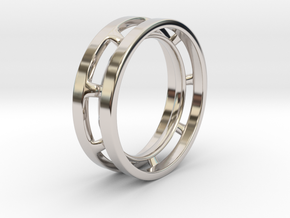 Future Trends collection - size 6 US in Rhodium Plated Brass