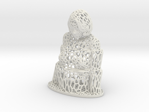 Steps Voronoi in White Natural Versatile Plastic