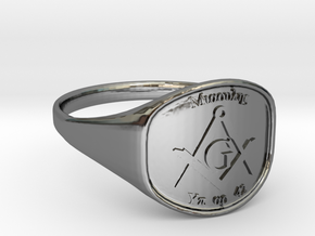 Mason Ring Miaoulis in Fine Detail Polished Silver