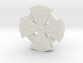 Celtic Cross in White Natural Versatile Plastic