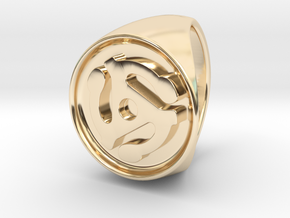 Custom Signet Ring 7 in 14k Gold Plated Brass